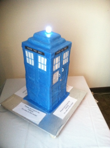 The TARDIS, edible form.