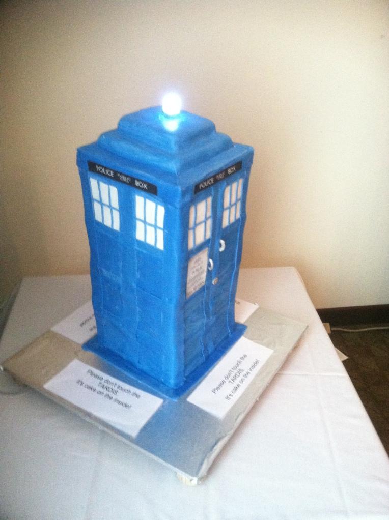 The TARDIS, edible form.