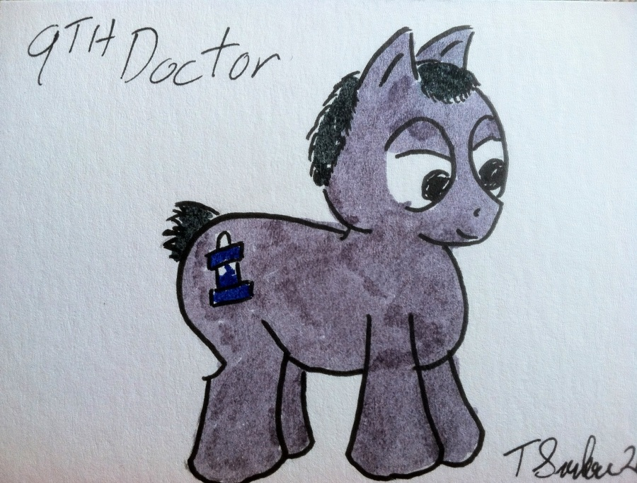 The really freaking awesome Doctor WHOrse, by Travis Surber, and it's all MINE!!! Muwahahaha!